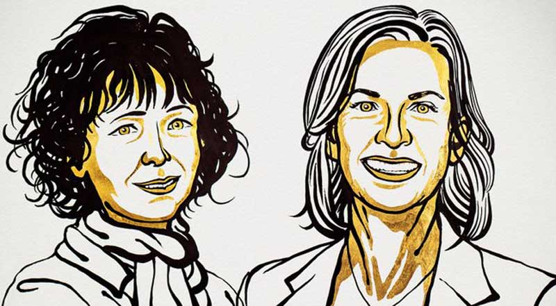 Nobel Prize in Chemistry awarded to Emmanuelle Charpentier and Jennifer A. Doudna