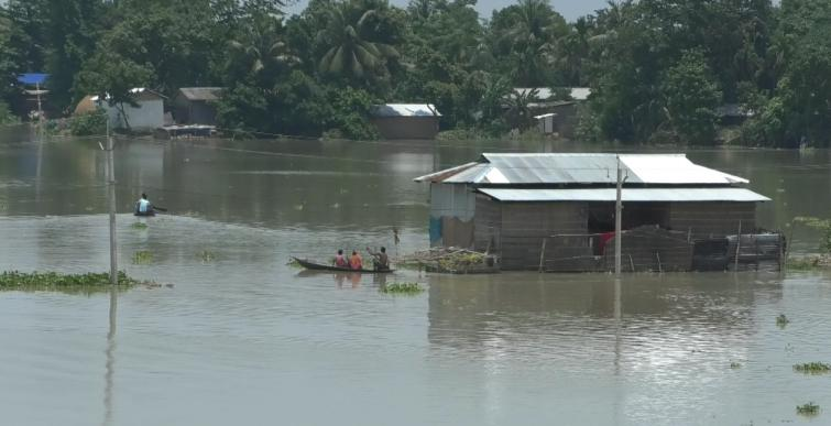 After COVID-19 lockdown, now flood hits Assam farmers, others to live on roads