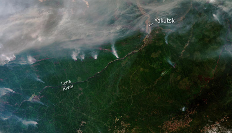 Dramatic Arctic fires and sea ice melt, show need for urgent climate action