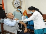 COVID-19: Haryana DGP takes second dose of vaccine