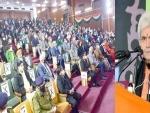 LG Manoj Sinha inaugurates Jammu & Kashmir vaccination drive at GMC Jammu