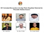 IIT Guwahati researchers develop Water Repellent Material for Wearable Motion Sensors
