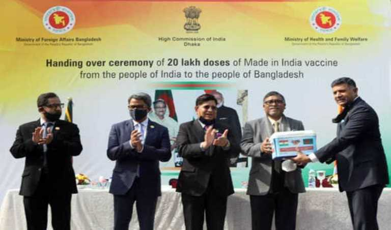 India officially hands over 20 lakh Covid-19 vaccine to Bangladesh