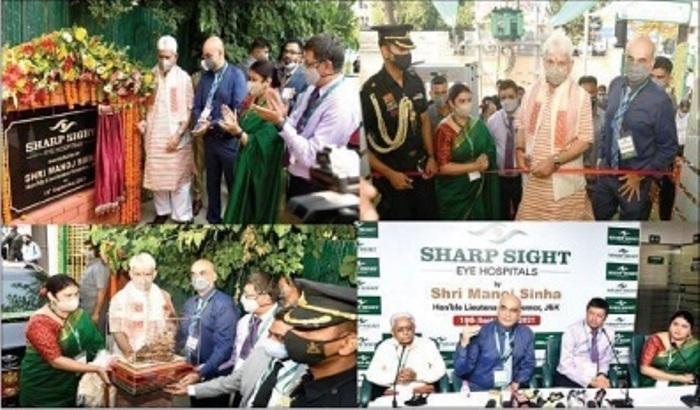 LG inaugurates Sharp Sight Eye Hospital at Barzulla, Kashmir