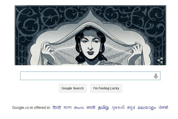 Google doodles to celebrate Nargis' birthday