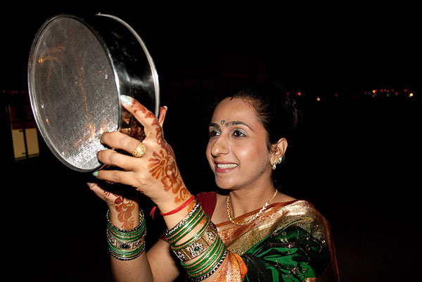 Indian women celebrate Karwa Chauth