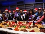 Kolkata: Byomkesh Pawrbo team takes part in cake mixing at The Gateway hotel