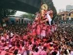 Immersion of Lalbaugcha Raja Ganesh idol in progress in Mumbai