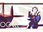 Google doodles to celebrate female pioneering pilot Jean Batten's birth anniversary
