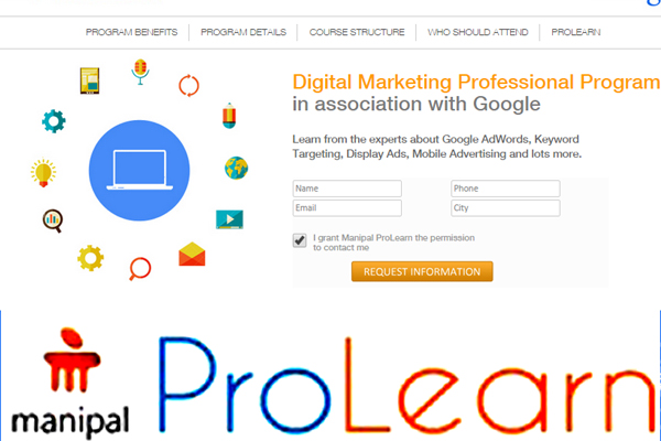 Manipal ProLearn offers certification in Google Analytics and Tag Manager