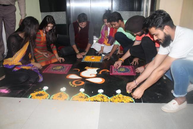 ATDC students celebrate Diwali