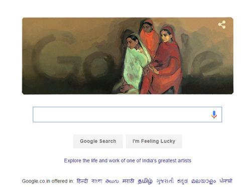 Google doodles on Amrita Sher-Gil's 103 birth anniversary