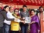 Sourav Ganguly unveils audito album featuring Dona with Pt. Prodyut Mukherjee