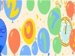 Google doodles to celebrate new year