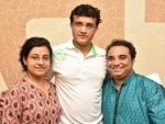 Sourav Ganguly wishes luck to Dona Ganguly-Prodyut Mukherjee Rhythm Express fusion project