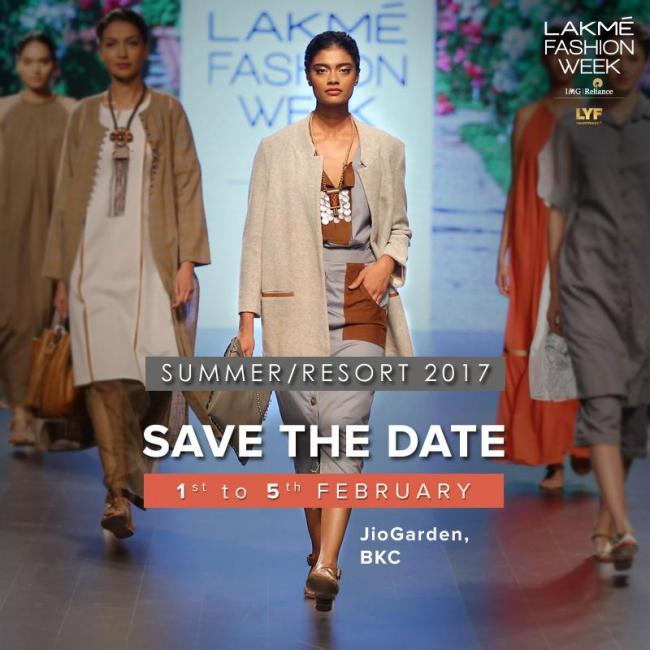 Lakmé Fashion Week Summer/Resort 2017 to take place from Feb 1-5 at JioGarden