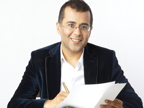Chetan Bhagat introduces his new book cover with a movie-like trailer