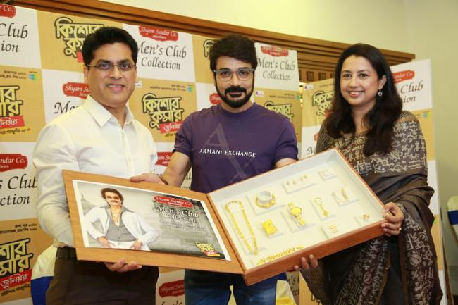 Tollywood star Prosenjit Chatterjee unveils men's jewelry collection at Shyam Sundar Co. Jewellers