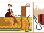 Google designs its hompage with doodle to mark Hubert Cecil Booth's birth anniversary