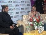 Bollywood actor director Arbaaz Khan meets students of Aditya Academy