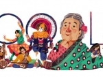 Google decorates its homepage with doodle celebrating social activist Kamaladevi Chattopadhyay's 115th birth anniversary