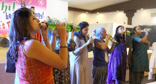 A recent beer drinking competition in India