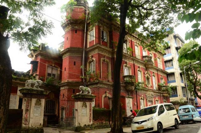 The Kalighat house of the Haldars recently razed to the ground