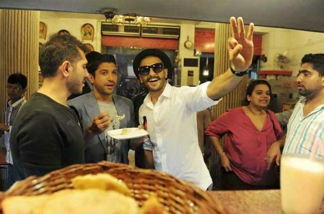 Bollywood celebrities at the KC Das outlet savouring the sweet taste of Bengal