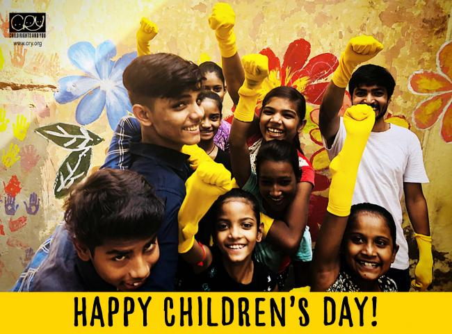 CRY celebrates Children's Day with #YellowFellow campaign