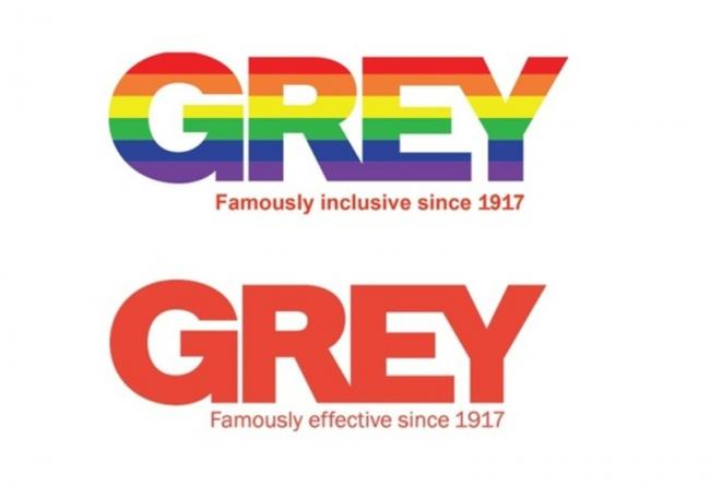 GREY group changes its logo and tagline in a toast to decriminalizing gay sex in India