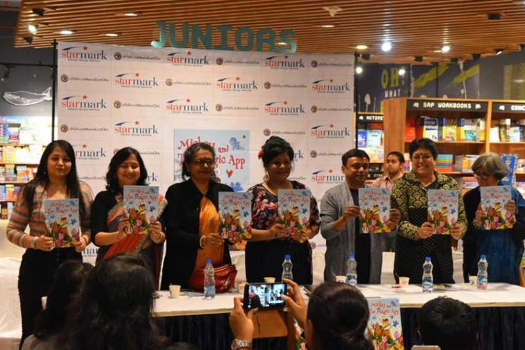 Starmark hosts launch of Sourabh Mukherjee's book for children Micky and The Magic App