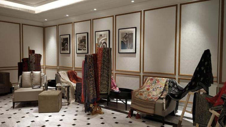 Rush to the Agomoni exposition at ITC Royal Bengal for exclusive Kantha embroidered products