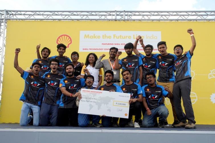 Team Averera from IIT-BHU clocks beat mileage at Shell's 'Make the future live India 2019'