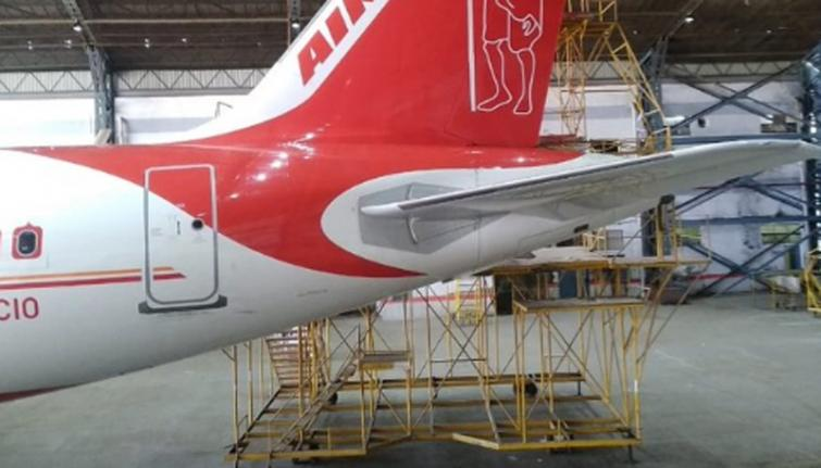 Air India pays tribute to Mahatma Gandhi by painting a portrait on its aircraft