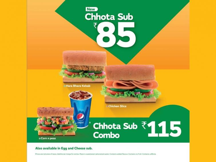 QSR chain Subway India introduces a special mini sub in four flavours across its country-wide outlets