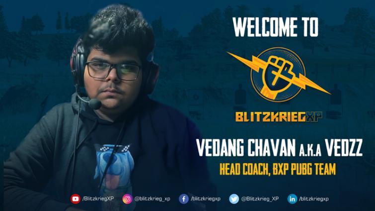 BlitzkriegXP signs Vedang Chavan A.K.A Vedzz as head coach for BXP PUBG Team