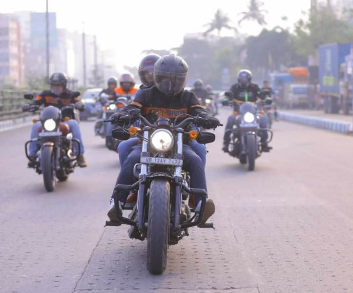 Bengal HOG chapter hold protest ride against Harley Davidson's decision to stop its India business
