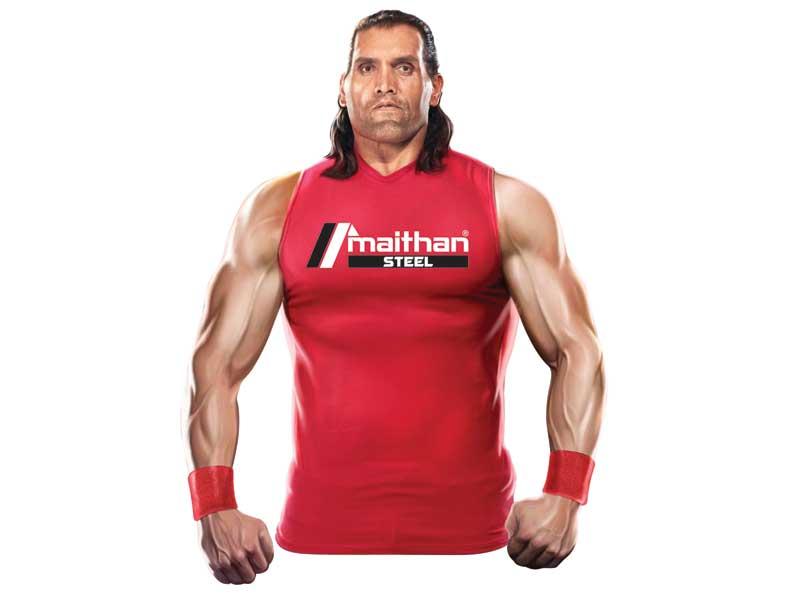 Wrestler The Great Khali joins Maithan Steel as brand ambassador