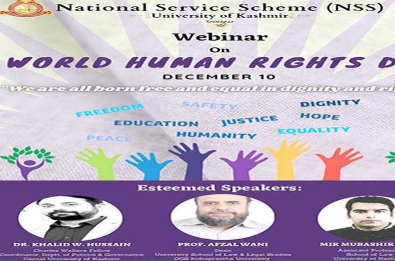 J&K: KU's NSS organises webinar to mark Human Rights Day