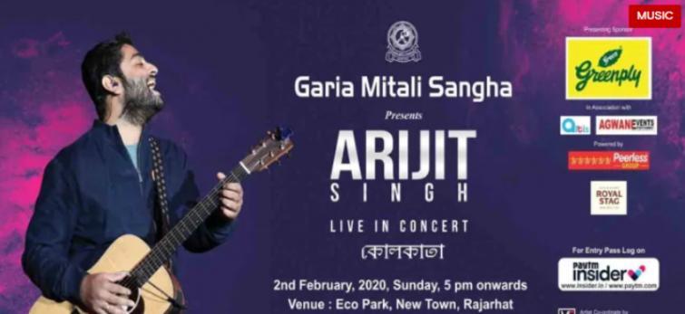 Arijit Singh set to perform live in Kolkata on Sunday