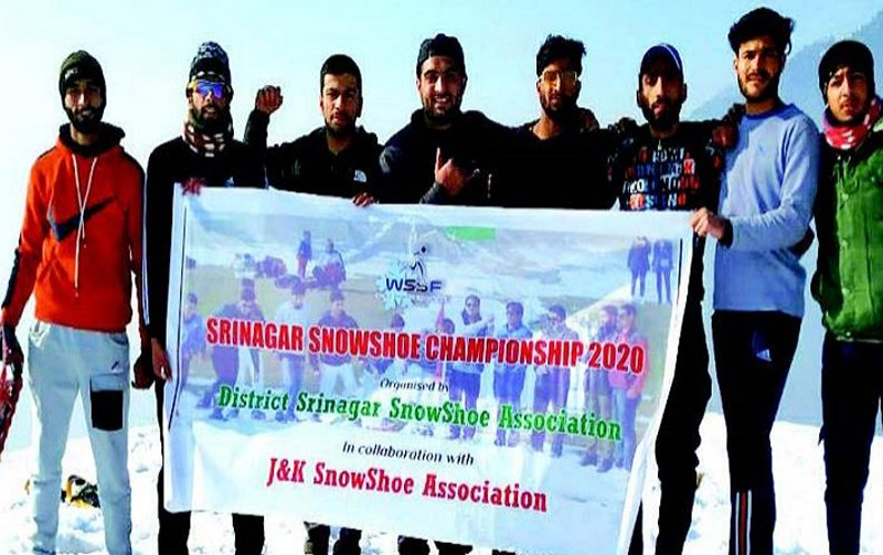 Jammu and Kashmir: First ever Snow Shoe Championship held in Srinagar