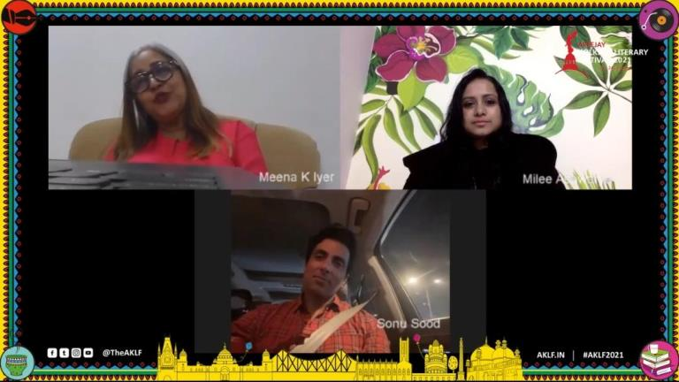 Actor Sonu Sood talks about his philanthropic journey during the lockdown at AKLF2021