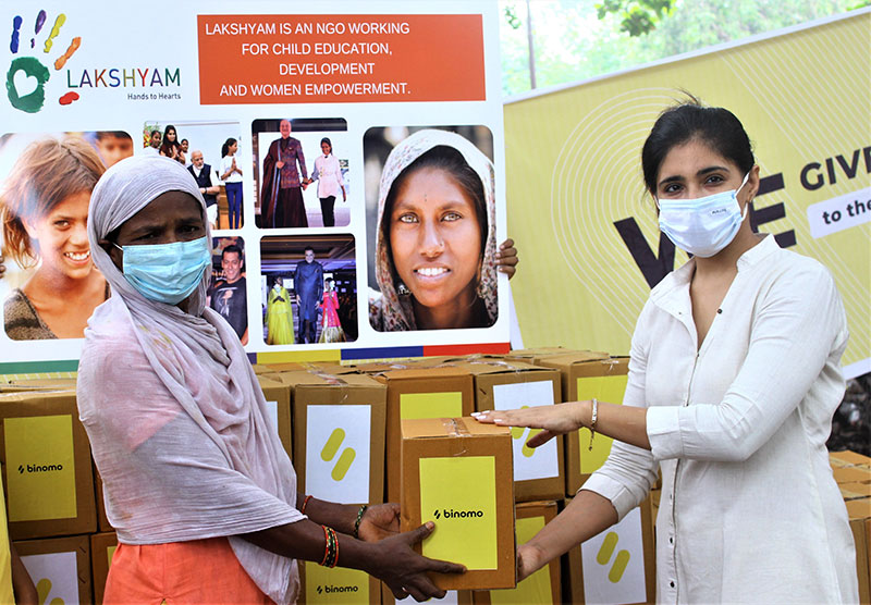 Lakshyam distributes ration kits, solar lamps and other necessary items to underprivileged families