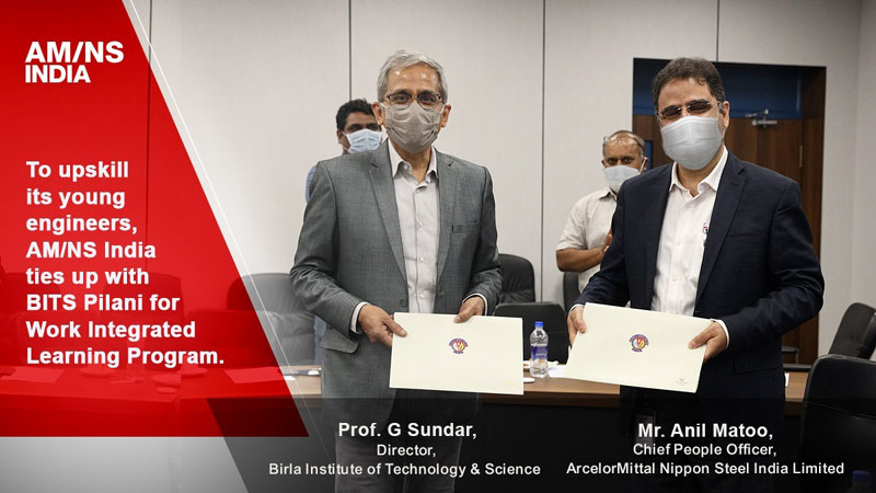 BITS Pilani and AMNS India sign MOU to provide sponsored B.Tech engineering degree