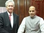 William J Burns meets Rajnath Singh