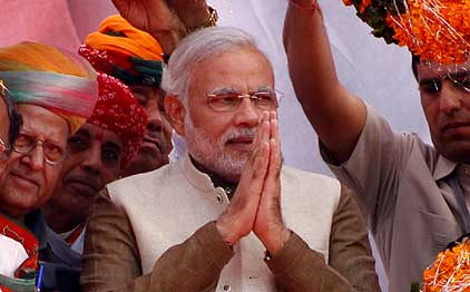 He has my blessings: Modi's mother