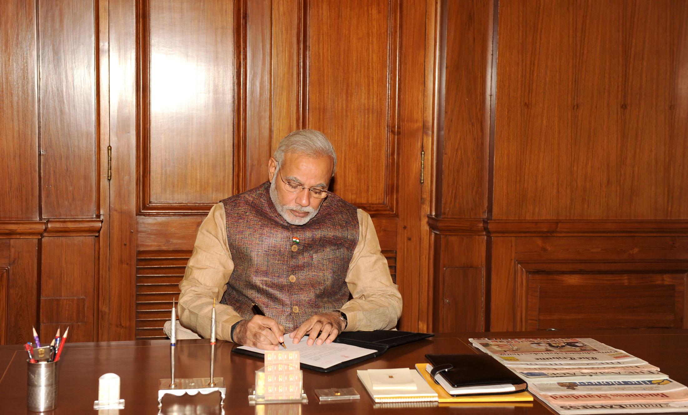 PM Modi returns home
