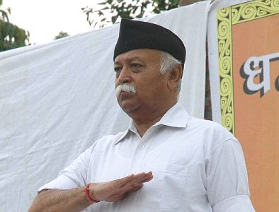 RSS chief addresses live on Doordarshan, sparks row