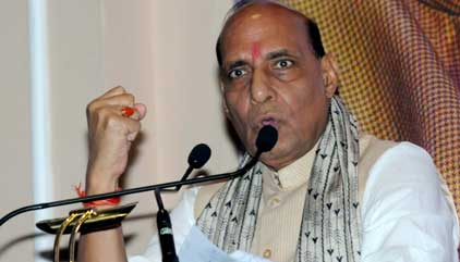 Rajnath seeks Vajpayee's blessings, heads for Lucknow