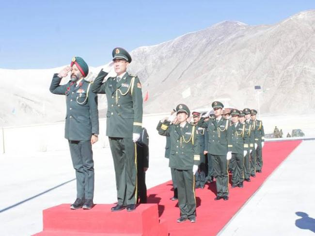 indo china border personnel meet on new year